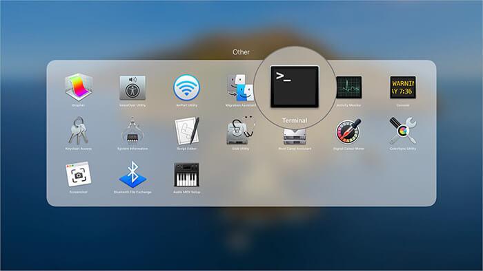 Launch Terminal on Mac