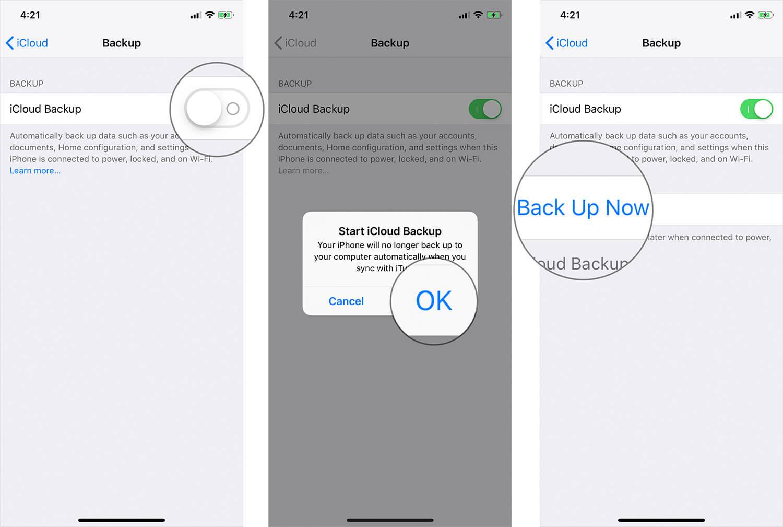 Enable iCloud Backup on iPhone or iPad