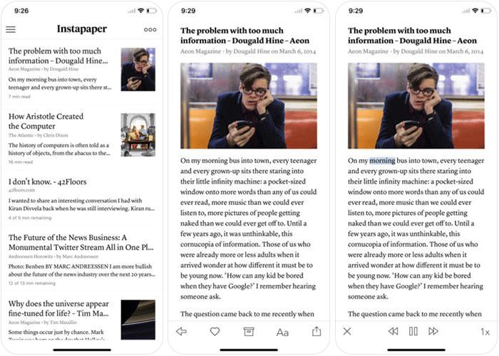 Instapaper iPhone and iPad App Screenshot