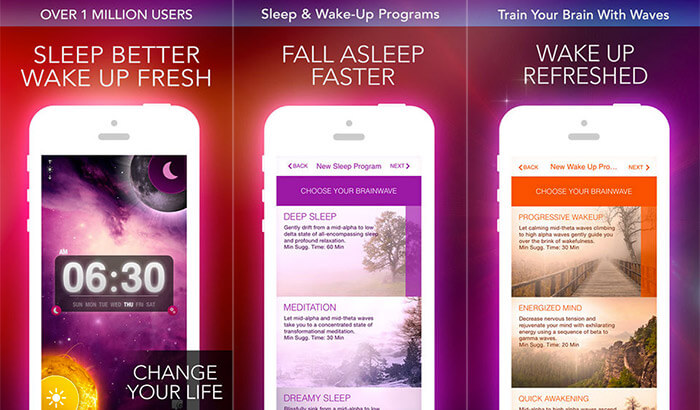 Alarm Clock Sleep Sounds Free iPhone and iPad App Screenshot