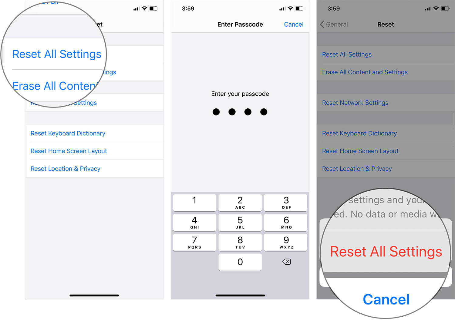 Reset All Settings on iPhone or iPad