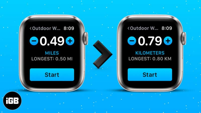 How to change distance units from miles to kilometers on Apple Watch and iPhone