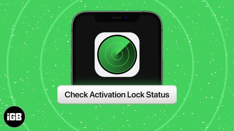 How to check Activation Lock Status via Apple Support page