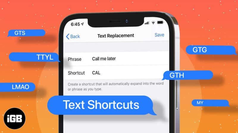 How to use text shortcuts on iPhone and iPad