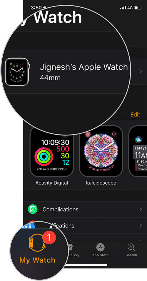 Tap on Your Watch on iPhone
