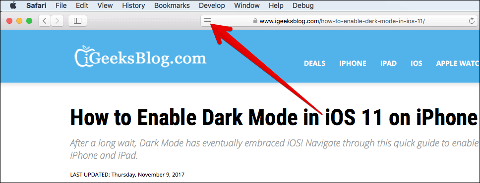 Enable Reader Mode in Safari on Mac