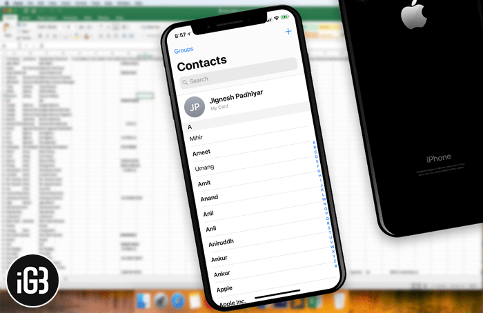 How to Copy iPhone Contacts to Excel