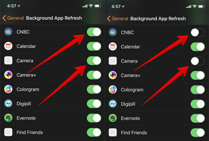 Disable app you don't want to refresh in background on Apple Watch