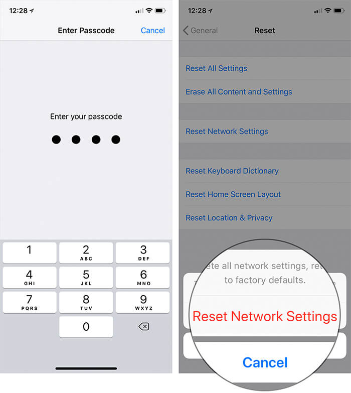 Reset Network Settings in iOS 12 on iPhone or iPad