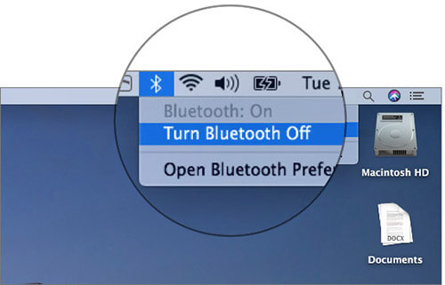 Turn off Bluetooth on Mac