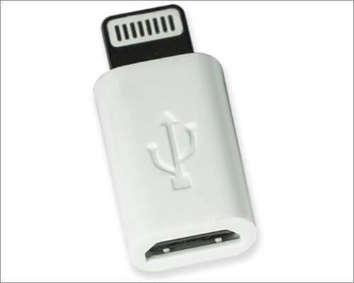 VisionTek Lightning to Micro USB Adapter