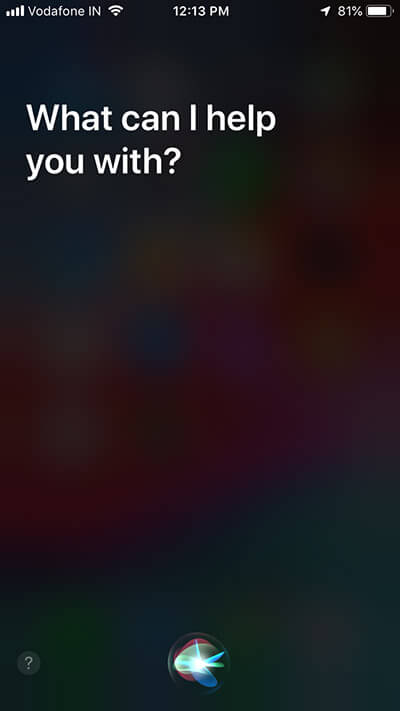 Invoke Siri on your iPhone