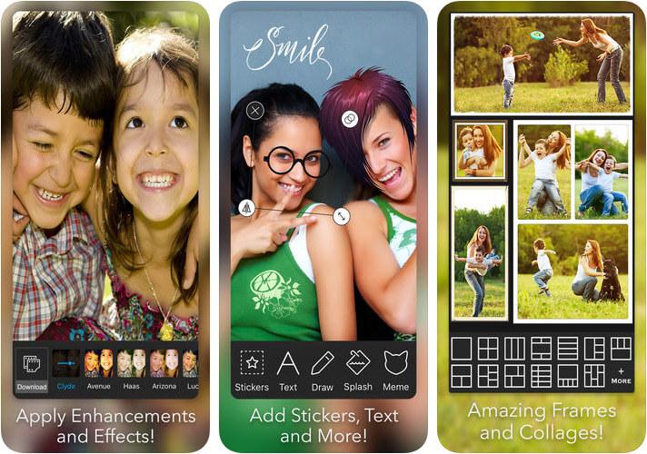 Photo Editor iPhone and iPad App Screenshot