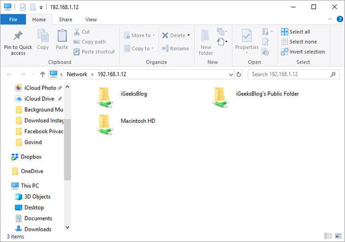 Wirelessly Share Files between Mac and Windows PC