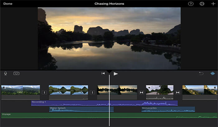 iMovie iPhone and iPad App Screenshot