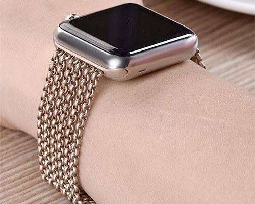 TUJUIO Apple Watch Series 4 Stainless Steel Band
