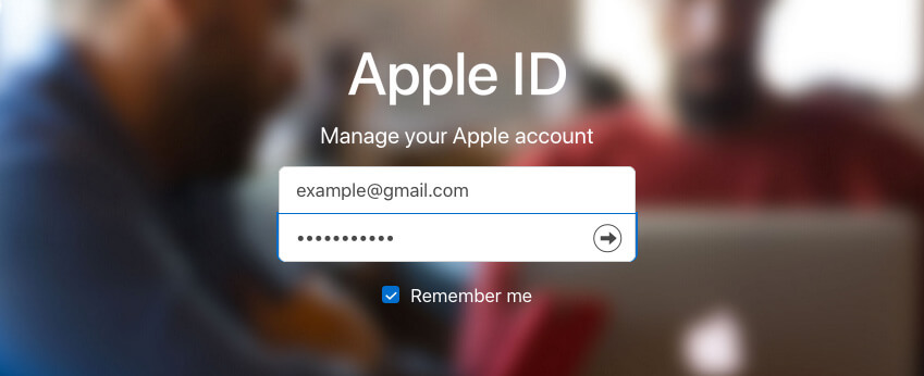 Sign into Apple ID Website from PC