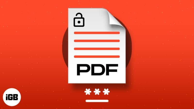 How to remove password from PDF file on iPhone and iPad
