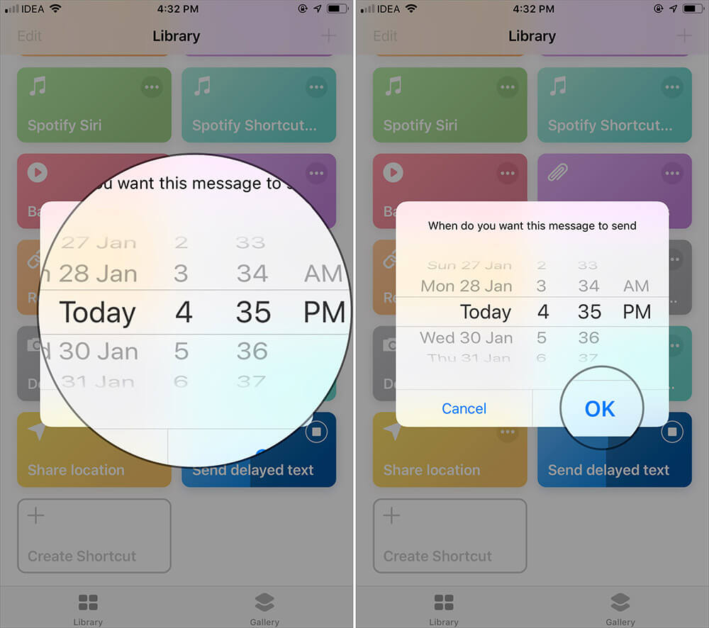 Set Date and Time to Schedule Text Messages on iPhone with Siri Shortcuts