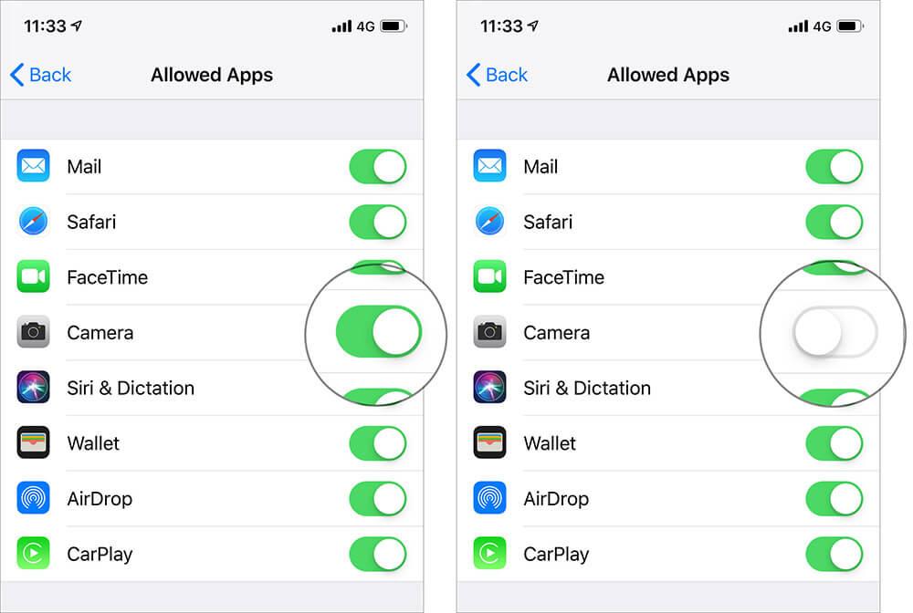 Turn Off Camera Access from Lock Screen in iOS 12