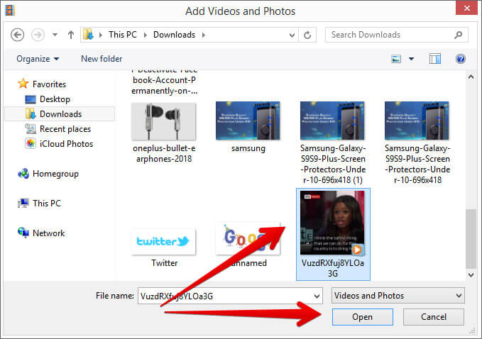 Import the video in Movie Maker on Windows PC