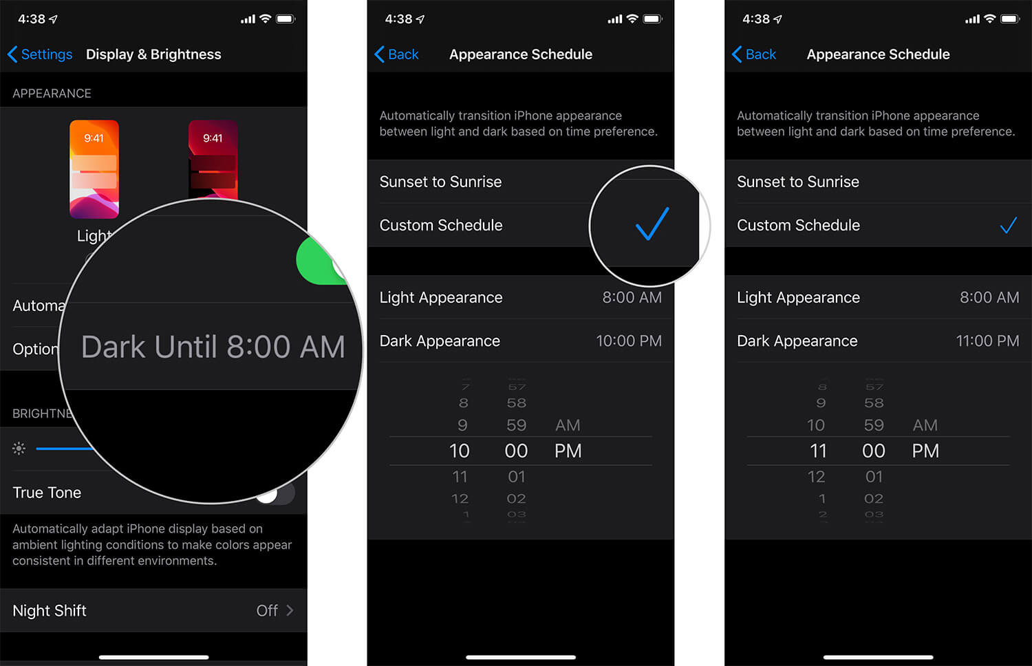 Customize Dark Mode in iOS 13 on iPhone or iPad