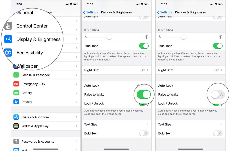 Turn Off Raise to Wake on iPhone running iOS 13