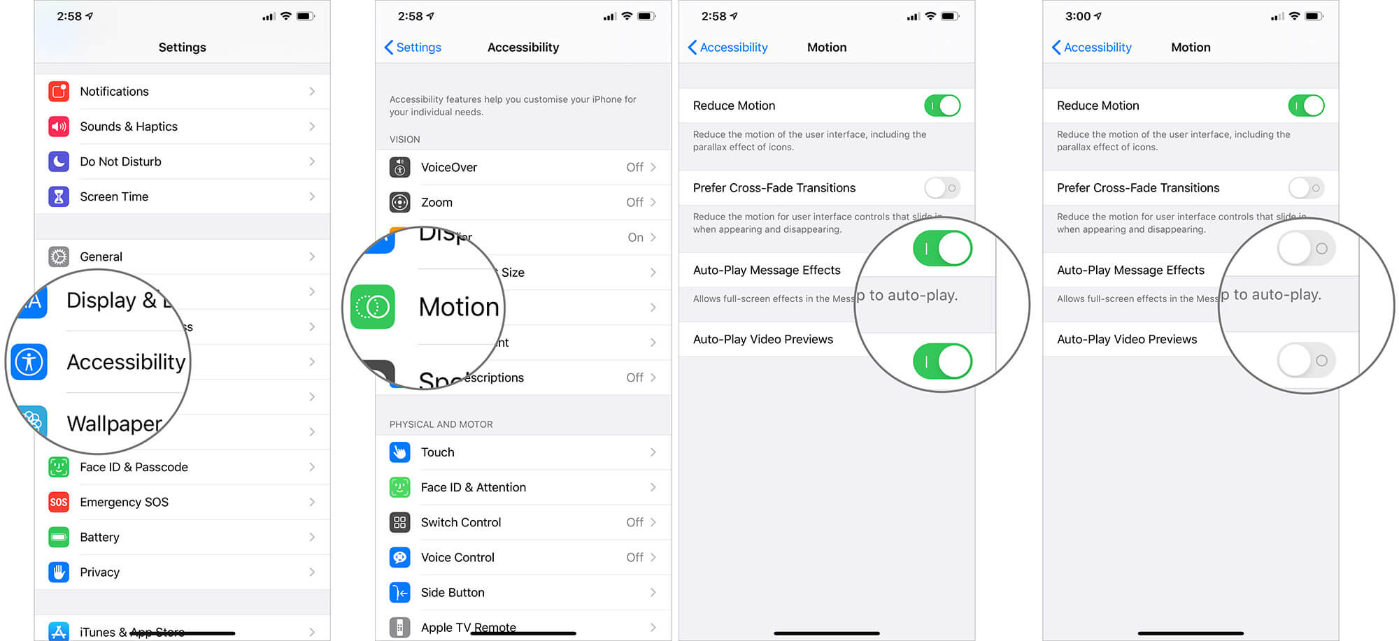 Disable Auto-play Message Effects and Video Previews to Improve iPhone's Battery Life