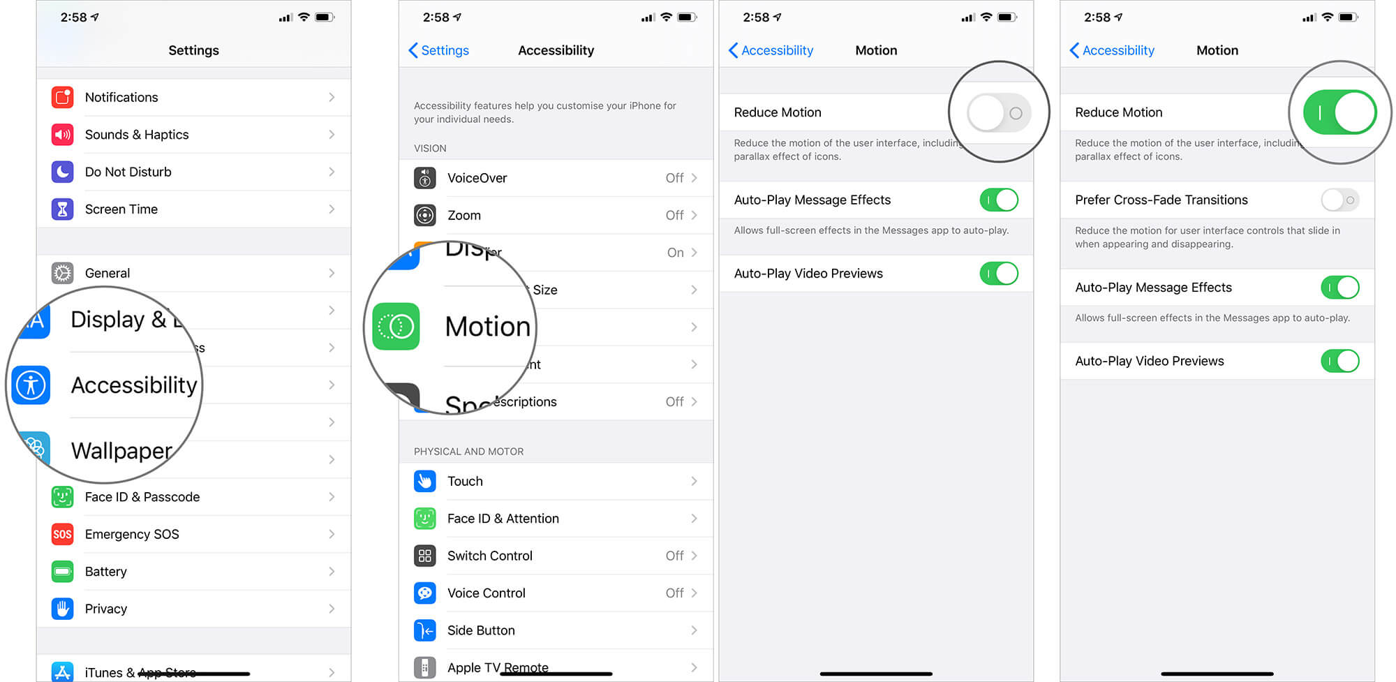 Enable Reduce Motion to Extend Battery Life of iPhone