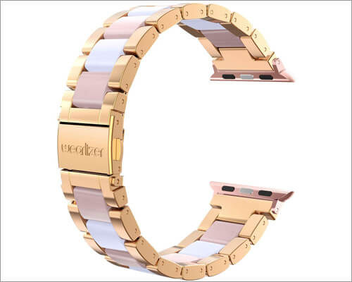 Stainless Steel Band for Apple Watch Series 4 from Wearlizer
