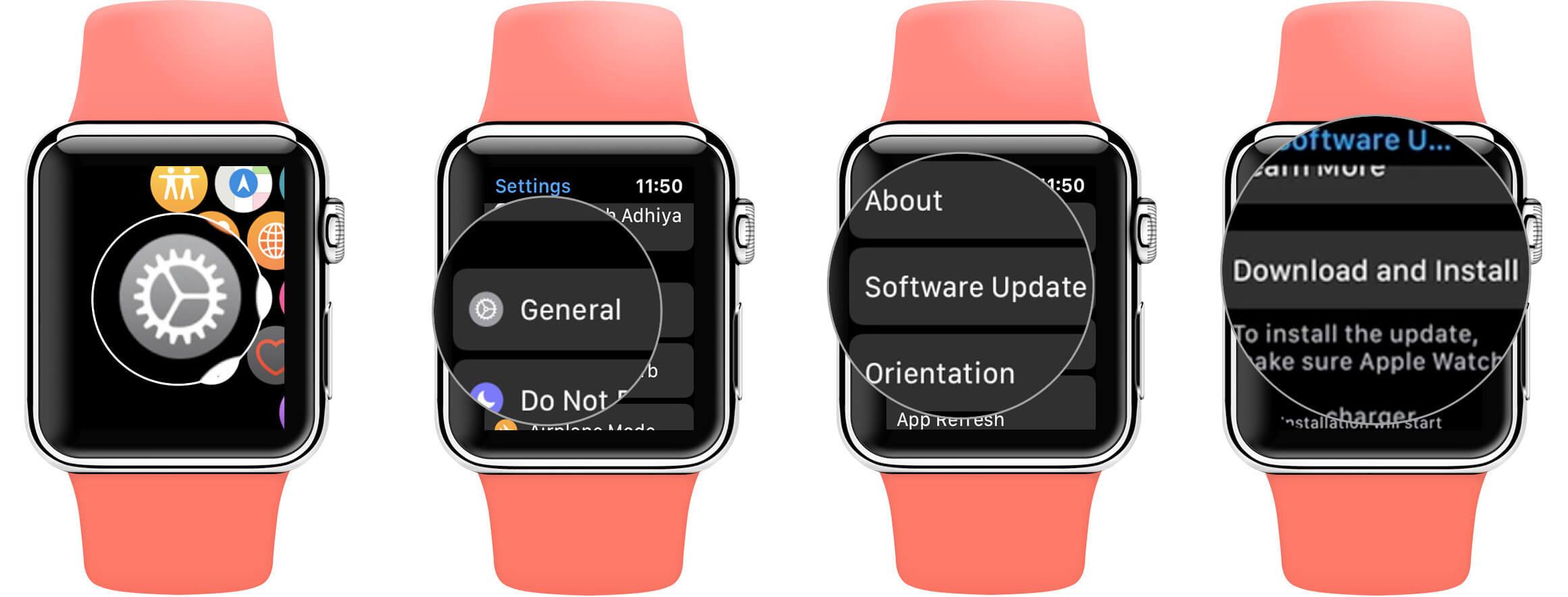 Update watchOS from Apple Watch Series 5