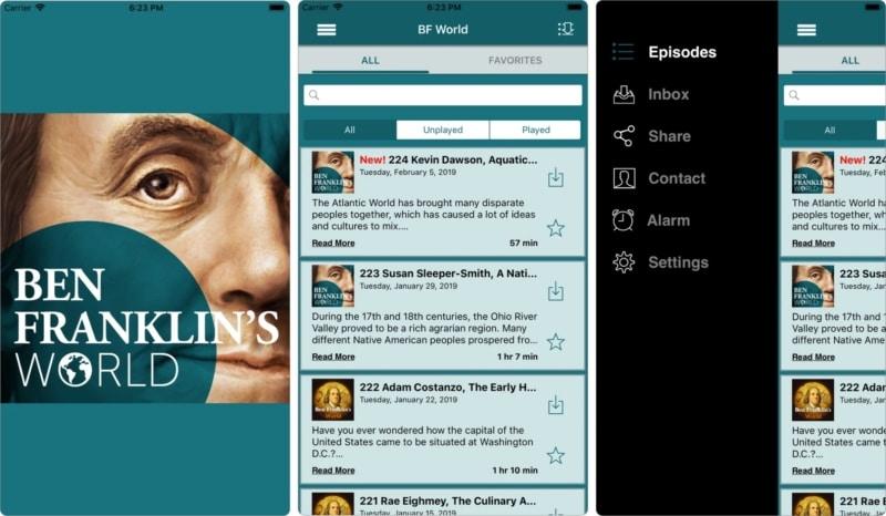 Ben Franklins World iPhone und iPad App, um Geschichte zu lernen