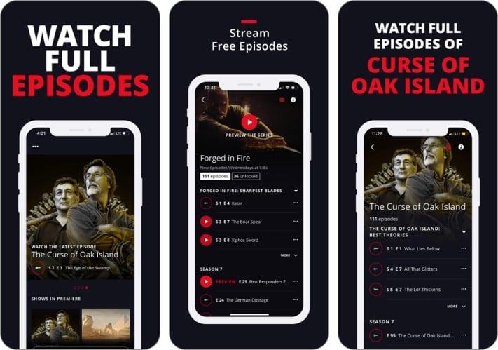 GESCHICHTE TV iPhone App, um Geschichte zu lernen