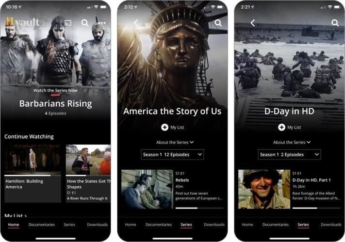 GESCHICHTE Vault iPhone und iPad App
