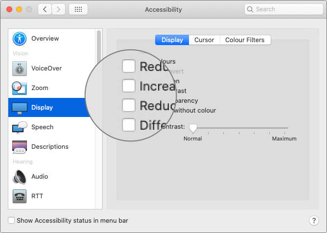 Select Display Option on macOS System Preferences on Mac