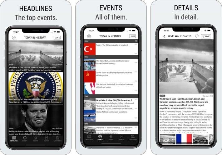Heute in der Geschichte Lite Edition iPhone und iPad App