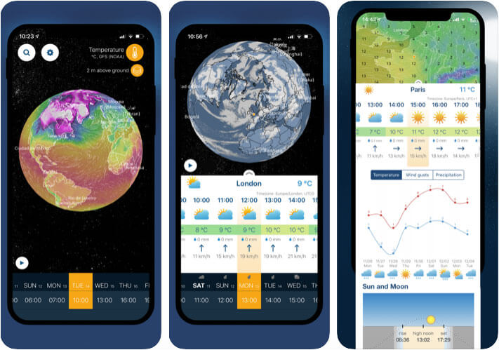 Ventusky 3D Weather Maps iPhone App Screenshot