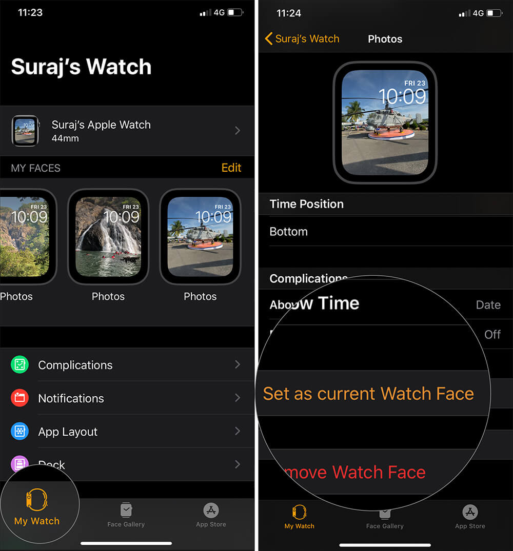 Add Your Photos to the Apple Watch Face Using Photos App on iPhone