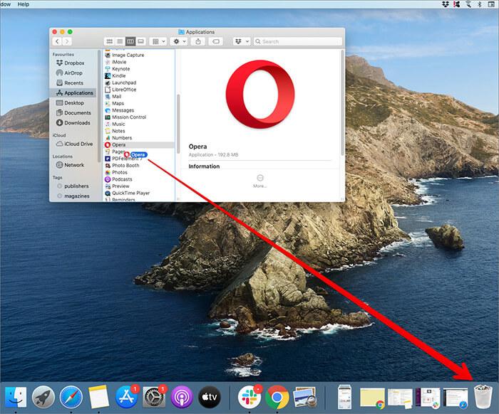 Drag Application to Bin on Mac