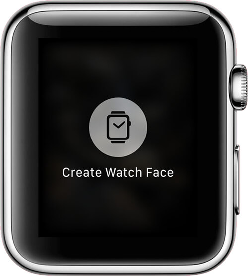 Tap on Create Watch Face in Photos App on Apple Watch