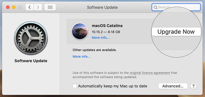 Update the software on your Mac