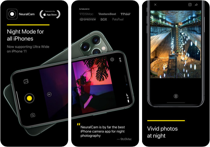 NeuralCam Camera App for iPhone 11 Pro Max