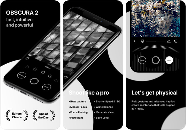 Obscura 2 Camera App for iPhone 11 Pro Max