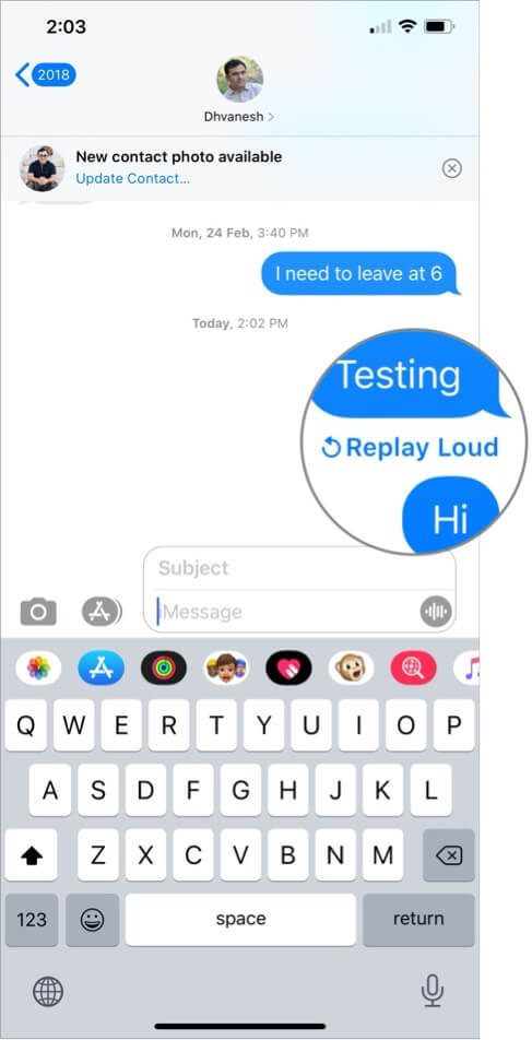 Replay Bubble Effect in iMessage on iPhone