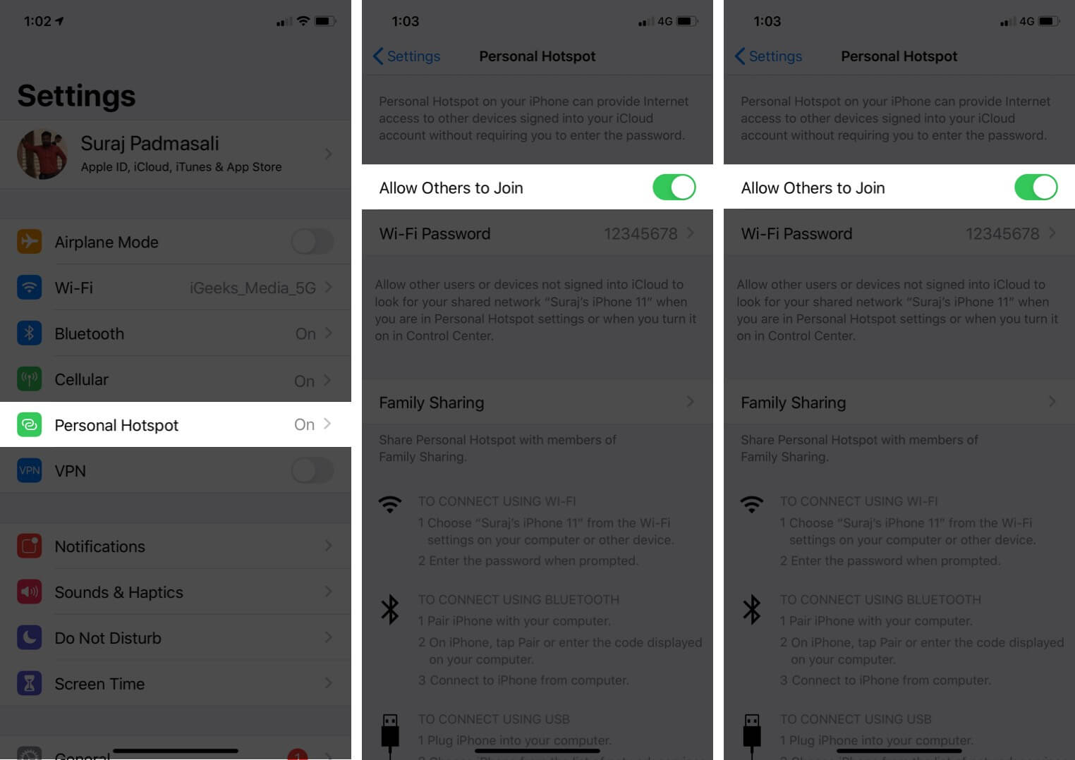 Turn Off Personal HotSpot on iPhone