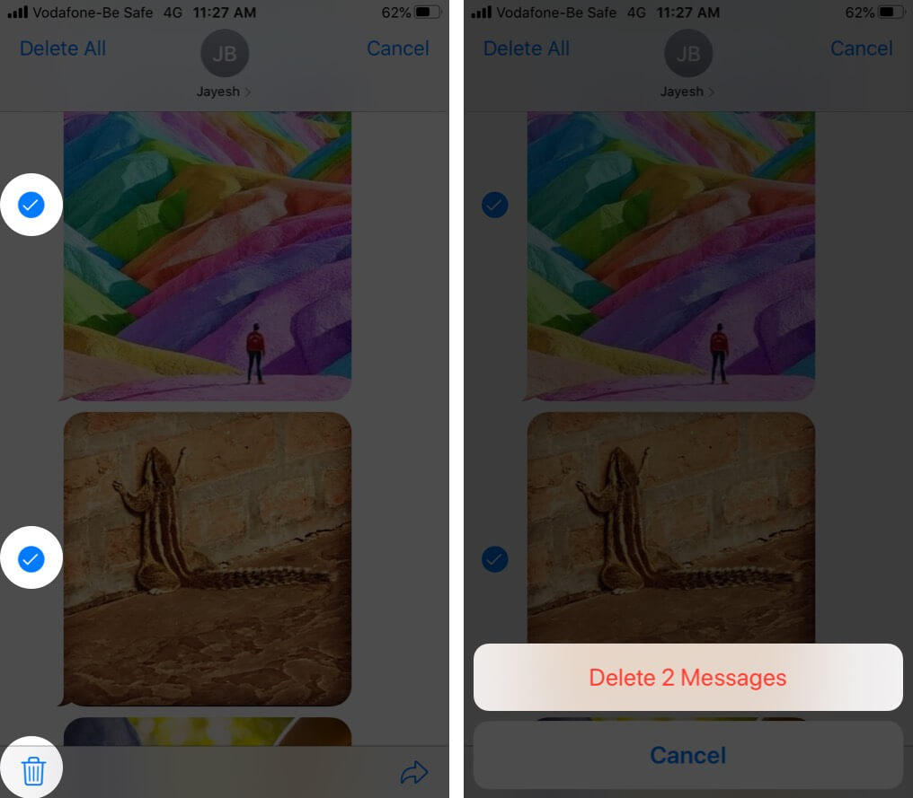 Delete Multiple iMessage Photos in iOS 13 on iPhone