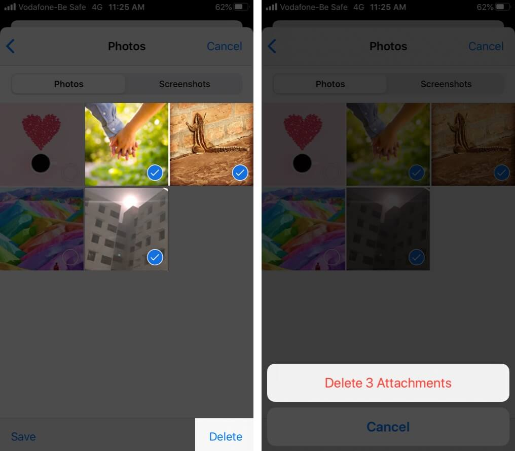Delete iMessage Photos in iOS 13 on iPhone