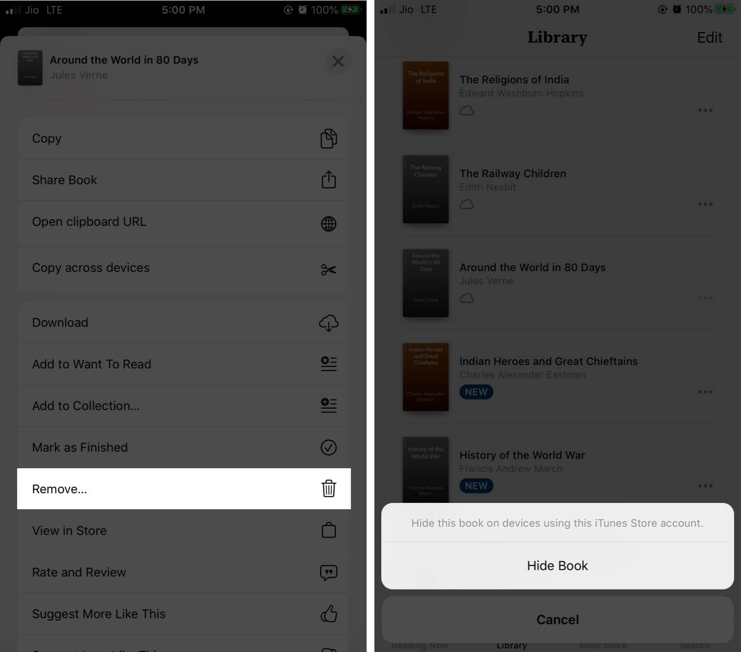 Hide Books and Audiobooks Purchases from Family Sharing on iPhone