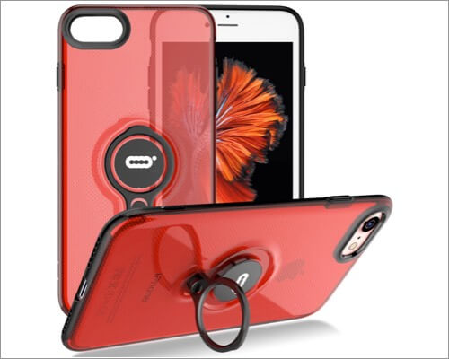 ICONFLANG Ring Holder Kickstand Case for iPhone SE 2020