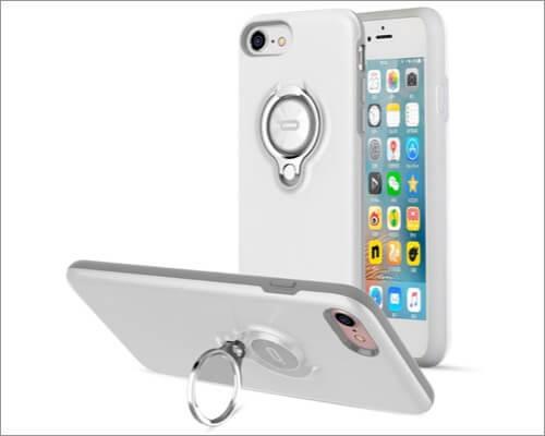 ICONFLANG ShockProof Ring Holder Case for iPhone SE 2020